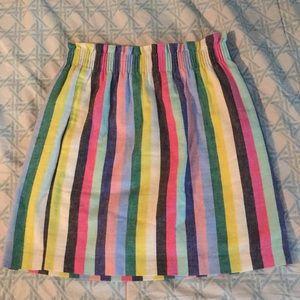 J.Crew Multicolor Rainbow Paperbag Skirt